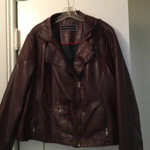Burgundy poly than jacket. Size 2X